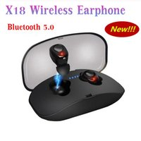 X18 TWS سماعة أذن لاسلكية صغيرة بلوتوث 5.0 سماعة ستيريو 3D الأيدي خالية من الضوضاء سماعة مع مايكروفون صندوق الشحن