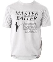 Master Baiter Funny Fishing T Shirt Joke Fisherman Tee Men&#...