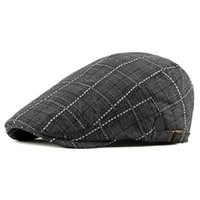Moda Casual Cotton Boinas Outdoor Checkered Tongue de Inverno Hat Homens Chapéu de Cap Masculino Dad óssea Trucker Caps Chapeau Femme