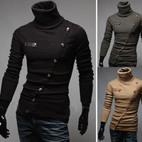Mens Sweaters Button Cardigan Knitwear Male Sweater Autumn M...