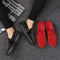 New luxury personality rivet casual shoes nail shoes men...