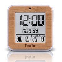 LCD Digital Alarm Clock With Indoor Temperature Alarm Clock ...