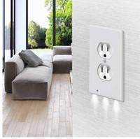 Plug Cover Led Night Light PIR Body Motion Sensor attivato Sicurezza Sicurezza Angelo Outlet Outlet Corridoio Bedroom Bedroom Bedroom Lampada da notte