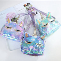 Sequin Unicorn Purse Kids Cartoon Crossbody Bag Girls Glitte...