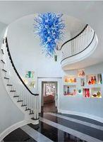 شعبية رخيصة الأزرق والأبيض الحديثة الثريا الصمام توفير مصدر الضوء ديل كيلي الزجاج الزفاف ضوء السقف