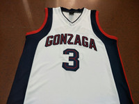 Пользовательские мужчины молодежь женщины редкие бульдоги Гонзага #3 Адам Моррисон колледж баскетбол Джерси размер S-4XL или пользовательские любое имя или номер Джерси