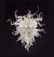 Kostenloser Versand Hochzeitsdeko mundgeblasenem Glas Günstige und Klein Kronleuchter aus Murano-Stil moderner Kristallpendelleuchten