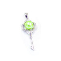 Vintage Anahtar S925 İnci kolye kolye Ayar Montaj Tabanı% 100 Katı 925 Gümüş Yarı Dağı Kadın Takı DIY Bulguları DZ047