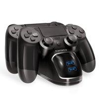 بيع PS4 تحكم شحن محطة قفص الاتهام لتشغيل محطة 4 الشاحن المزدوج الوقوف مع شاشة عرض حالة لPS4 / PS4 نحيفة / PS4 برو