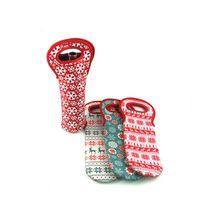Bottiglia del neoprene del fiocco di neve di stampa Bottiglie Borse manica vino rosso Copertina Christmas Holder manicotto della decorazione della casa di alta qualità 6 H1 5NY