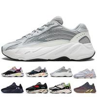 Con la mejor calidad Kanye West 700 V2 Static 3M Mauve Inercia 700s Wave Runner Hombre Zapatillas de running para hombre Mujer zapatillas deportivas diseñador