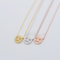 "Fashion cartoon expression pendant necklaces "" X X""..."