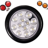 12 LED Luzes Alta Qualidade Rodada Variável Cor Vermelho e Amarelo Spotlights EUA em Lâmpadas de Entrega rápida de Stok CAMPO CAMPO CAMPANHA L