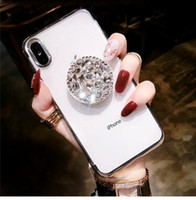 Luxe Meilleur 3D Diamant Bling Plating Soft Phone Case pour iPhone 6 7 8 Plus X XR XS MAX coque pour Samsung Galaxy S7 bord S8 S9 Note 8 9 Cas