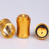 Alumínio álcool lâmpada de água acessórios para fumar laboratório suprimentos de ouro edição de aço inoxidável mini lâmpadas de álcool metal venda de álcool venda