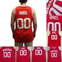 Steve Urkel # 00 Vanderbilt HS Basketbol Forması100% Dikişli Film Basketbol Formaları Kırmızı S-XXXL Toptan Mix Sipariş Hızlı Kargo