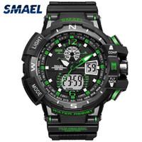 3a4c65a83e24 Marca de lujo Reloj deportivo Hombres LED Reloj analógico digital  Impermeable Ejército Relojes militares Reloj de