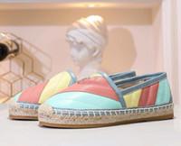 جديد وصول المرأة الصياد ملون متعطل شقة كعب اللباس أحذية المشي الانزلاق على الأحذية الجلدية حقيقية عارضة حجم 35-41