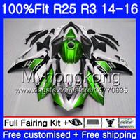 Впрыска для YAMAHA YZFR25 YZF R25 R3 2014 2015 2016 2017 240HM.42 YZF - R25 YZF-R3 R 25 корпус YZFR3 14 15 16 17 обтекатели зеленый завод комплект