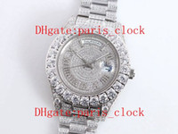 SF Toda a broca de gelo Roma Roma Big Diamond Relógio Anel de Luxo Moda Homens Assista com 316 Aço Inoxidável 2813 Movimento Automático Precisão de Timing