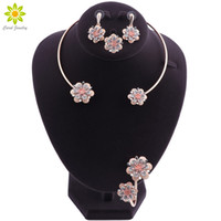 Bridal Jewelry Sets Gold Plated Jewelry Sets For Women Weddi...