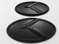 2pcs 새로운 3D 블랙 K 로고 배지 엠블럼 스티커 피트 기아 optima K5 2011-2018 / 자동차 엠 블 럼
