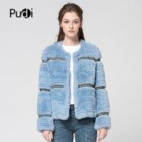 Женский меховой FUX PUDI CT7027 REX COATS вязаный вязаный вязаный настроен на пальто пальто куртка зима густая теплая подлинная