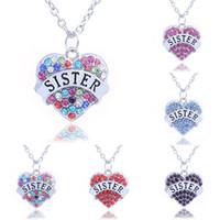 Mãe mãe melhor presente mãe filha irmã vovó nana tia colar de família cristal coração pingente strass mulheres jóias