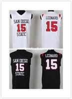 الرياضة MVP 15 KL Jersey San Diego State University Black White Kawhi CA Leonard SDSU Jersey كرة السلة كلية NCAA