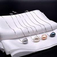 Барокко одного шарика ожерелье. 11-12 мм жемчуг натурального барокко. 925 стерлингового серебра. Девочка ожерелье
