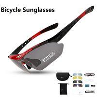 Gafas de sol polarizadas deportivas al aire libre Gafas de ciclismo MTB MTB BICICLETA PROTECCIÓN DE PROTECCIÓN GOGGLES EYEWEAR 5 LENTE