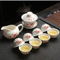 Chinese Kung Fu Tea Set Ceramic Copos roxo argila incluem chá pot Cup Terrina Infuser Tea Tray Chahai Preferências