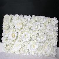 40x60cm luxe en soie artificielle Panneaux Fleur blanche Fleur Mur Décor floral décor de soirée de mariage Décoration Panneau Herbe