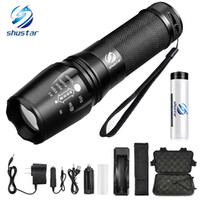 LED flashlight Tactical Flashlight 8000 Lumens XM- L2 T6 Zoom...