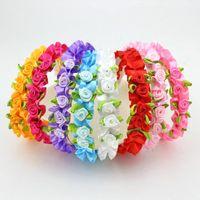 Bandas Festival de boda diadema 8pcs del florista de Alice cabeza color de rosa Hairbands Headwear de la decoración de los accesorios del pelo envío de la gota