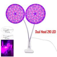 Dual Head 290 LED Grow Grow Light Full Spectrum Plant Plant Lampade di crescita lampadine per semi di fiori indoor serra