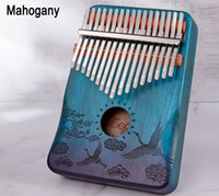 17 Tuşlar Kalimba Thumb Piyano Ahşap Maun Vücut Müzik Enstrüman Öğrenme Kitabı ile Mükemmel Müzik Sevgilisi, Yeni Başlayanlar, Fabrika Toptan