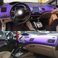 Pour Honda Civic 2005-2011 auto-adhésif Autocollants voiture 3D 5D fibre de carbone vinyle stickers voiture et décalcomanies Car Styling Accessoires