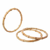 1 x Round Bamboo Bag Handle for Handcrafted Handbag DIY Bags...