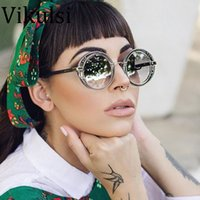 Italy Luxury Round Sunglasses Brand Designer Ladies Oversize...