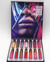 Nuovo Arriva il trucco Set Grand Illution Lipcolour Lipcolour Top Quality 14Colors Lipgloss (Set 14 PZ) Scatola regalo Lipgloss spedizione gratuita