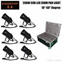 Freeshipping 6 Pack COB Big Cannon Zoom Par Light Dual Bracket 1M Power / DMX-kabel Daisy Chain voor Disco Wedding Party Stage Show