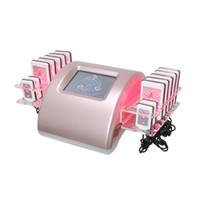 Alta Calidad La nueva venta Zerona Láser Slimming Machine Profesional Diodo Diodo Lipo Lipo 650nm Lipolaser 10 + 4 Almohadillas láser