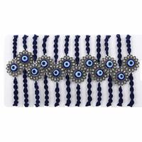Moda 12PCS Tibetan Lucky Charm Occhi azzurri Bracciali Braccialetti per uomo Donna intrecciata a mano nodi nylon corda braccialetti braccialetti regali MB199
