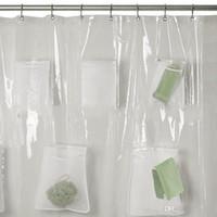 Badezimmer Sets Duschvorhang mit Taschen Fenstervorhängen Multi-Funktions-wasserdichtes Tuch Eintritt Mildew Proof Eindickung Hot Verkauf 30zjb1