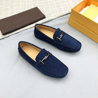 2020 design de luxe en cuir véritable daim mode hommes mocassins glisser sur les chaussures casual chaussures confortables entraînement Zapatos Hombre 38-44