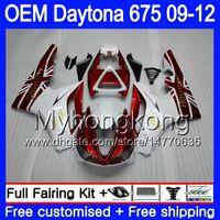 Injection For Triumph Daytona 675 09 10 11 12 Carrocería 323HM.18 Daytona-675 Daytona675 Daytona 675 2009 2010 2011 2012 Pearl White Fairing