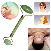 Natural Facial Beauty Massage Tool Jade Roller Face Thin mas...