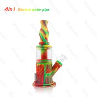 Mini bubbler Water Pipes assorted Colors Silicone Oil Rigs b...