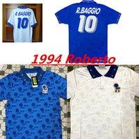 1994 이탈리아 국가 대표팀의 복고풍 홈 어웨이 축구 유니폼 (94) 이탈리아 말디니, 바레시 로베르토 바조 졸라 CONTE의 빈티지 클래식 축구 셔츠